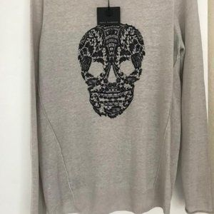 Skull Cashmere linen grey sweater